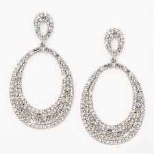 wedding earrings drop pave hoops drops oversized rhinestone statement earrings in