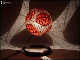 handcrafted gourd lamps by calabarte