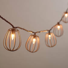 Jelly Jar Light With Cage by Rustic Wire Cage 10 Bulb String Lights World Market
