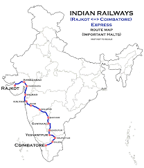 map of rajkot rajkot coimbatore express