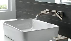 delta wall mount bathroom sink faucet wall mounted faucet it can