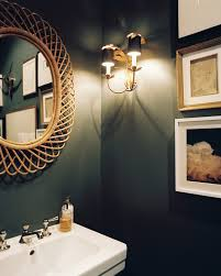 Bathroom Mirror Lighting Ideas Colors Illuminate It Dark Walls Dark Colors And Natural Light