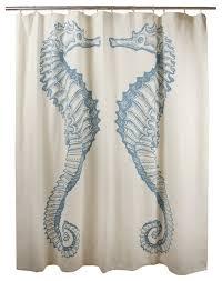 Coastal Shower Curtains Coastal Design Shower Curtains Ideas With Seahorse Shower