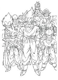 dbz coloring pages cartoons printable coloring pages coloringzoom