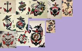 classic old tattoos vintage tattoos anchors and tattoo