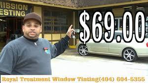 Mobile Window Tinting Phoenix Royal Treatment Window Tinting 404 604 5355 Youtube