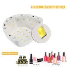 cure nail polish with uv l abody 24 48w uv l nail polish dryer led white light 5s 30s 60s