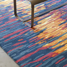 Orange And Blue Area Rug Modern Blue Area Rugs Allmodern For And Rug Architecture 22