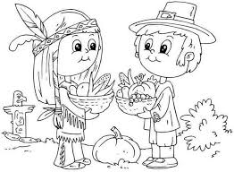 indian coloring pages for thanksgiving 1727