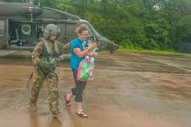 army reserve soldiers helping to rescue residents from houston u0027s