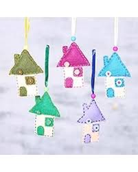 slash prices on wool felt ornaments home for the holidays set