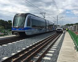 light rail schedule charlotte nc they re rolling first trains test lynx tracks in university city