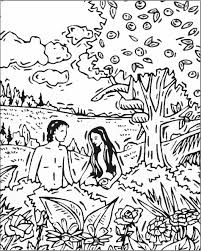 creation adam and eve coloring pages murderthestout