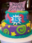 Image result for 15TH birthday cake