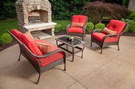 Lazy Boy Outdoor Patio Furniture by Bristol Patio Furniture Set Scarlet Red 4 Piece U2013 La Z Boy Outdoor