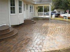Backyard Concrete Patio Ideas by Concrete Porch Steps How To Maintain Your Stamped Concrete Patio
