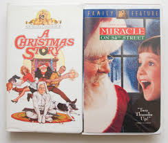 2 christmas vhs tapes a christmas story and miracle on 34th