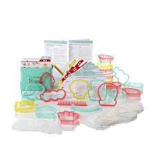 sweet sugarbelle shape shifter cookie cutter set with recipe tin