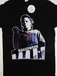 michael myers halloween movie bloody knife top floor t shirt