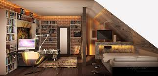 design a bedroom in the attic minimalus intended for bedroom