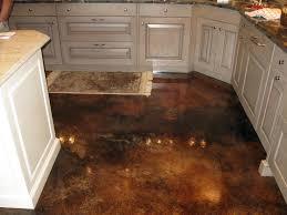 kitchen floor stained concrete floor polished modern white