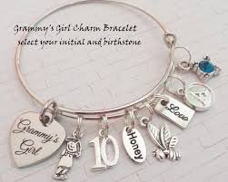 birthday charm bracelet gift idea for granddaughter 10th birthday charm bracelet happy