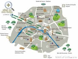 Map Of The Strip Paris Attractions Paris Top Tourist Attractions Map Fun