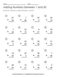all worksheets addition to 50 worksheets free printable