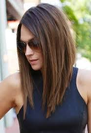 mid length hair cuts longer in front image result for brunette long in front short in back hair