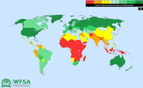 Huge World Map by Anaesthesia Workforce Map Shows Huge Shortages Impacting 5 Billion