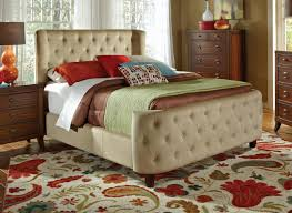 brown leather headboard queen bedroom fetching furniture for bedroom decoration using button