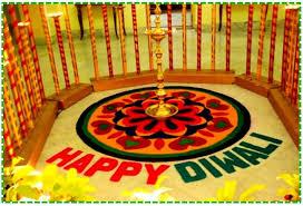 rangoli decoration happy diwali rangoli decoration idea