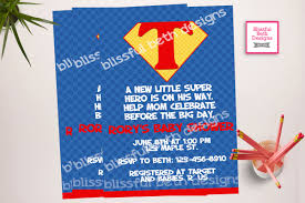 Invitation Card Superman Superman Baby Shower Superman Baby Shower Invitation Supergirl