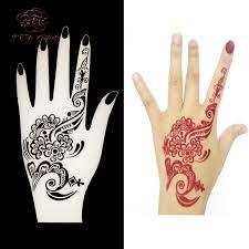 1 stücke henna hand tattoo schablone blume glitter airbrush