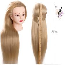 hairstyles to do on manikin training mannequin head with hair 70cm synthetic fiber cosmetology