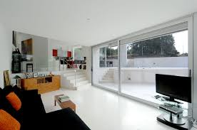Themes For Interior Design Of Residence Stylish Concrete Residence With White Building Construction Theme