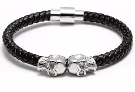 bracelet skull images The drago leather skull cuff bracelet pick a color charliexx jpg