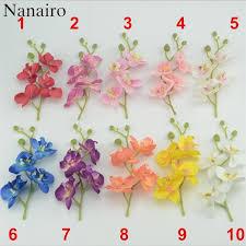Orchid Flower Arrangements Aliexpress Com Buy Mini 17cm Artificial Silk Butterfly Orchid