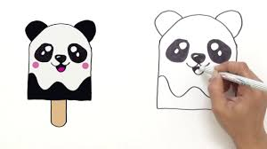 how to draw cute panda ice cream very easy hde youtube