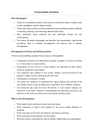 how to write an ethnographic research paper ethnography