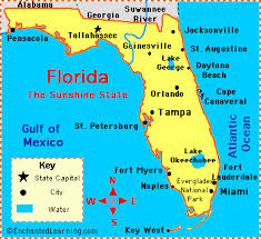 map usa florida florida facts map and state symbols enchantedlearning