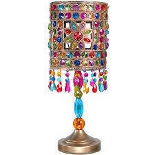 multi color jewel flower table lamp orientalfurniture com