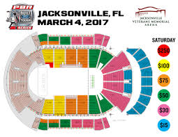 Jacksonville Florida Map Professional Bull Riders Jacksonville Invitational