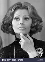 italian domme in hair curlers italian film star sophia loren stock photo royalty free image