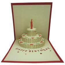 papercraft pop up 3d 3 layers birthday cake birthday
