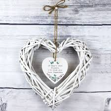 forget me not wicker heart decoration