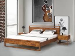 Schlafzimmer Betten Aus Holz Bett Dunkelbraun Holz Geölt Natur 160x200 Cm Giuliaab