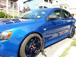 fs 2011 mitsubishi lancer sportback ralliart octane blue with
