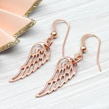 wing earrings gold angel wing earrings by hurleyburley notonthehighstreet