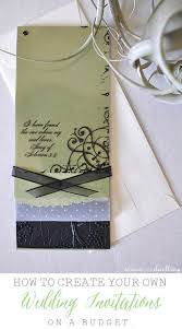 How To Design Your Own Wedding Invitations Diy Wedding Invitations
